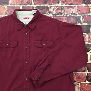 Wrangler Western Shirt Button Up Long Sleeve